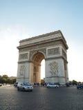 曲拱凯旋式法国巴黎的街道 库存照片