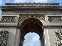 曲拱凯旋式的巴黎 免版税库存图片