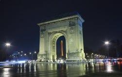 曲拱凯旋式的布加勒斯特 免版税库存图片