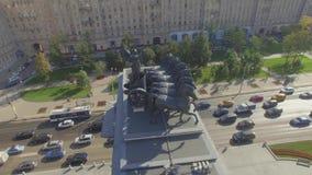 曲拱凯旋式的莫斯科 影视素材