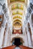 曲拱和管风琴在Sa内部大教堂  免版税库存图片