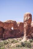 从曲拱国家公园,犹他,美国环境美化 库存照片