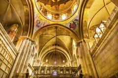 曲拱圆顶烈士教会圣洁坟墓耶路撒冷以色列 库存图片