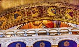 曲拱圆顶烈士教会圣洁坟墓耶路撒冷以色列 库存照片
