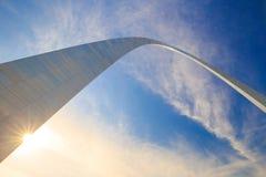 曲拱圣路易斯的顶面部分 免版税库存图片