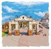 曲拱在克拉斯诺亚尔斯克 库存照片