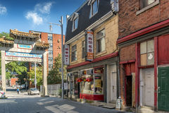曲拱在唐人街在蒙特利尔 免版税库存图片