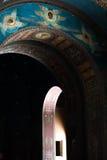 曲拱在基督徒修道院新的Afon里 库存图片