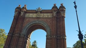曲拱在巴塞罗那 免版税库存照片
