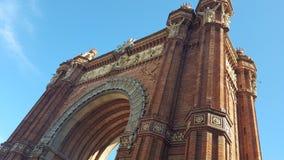 曲拱在巴塞罗那 免版税库存图片