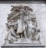曲拱城市日横向巴黎晴朗凯旋式 雕塑 免版税图库摄影