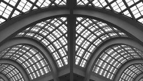 曲拱大厦玻璃屋顶 免版税库存照片