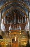 曲拱大教堂内部透视图 库存照片