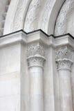 曲拱大教堂详细资料dormition 库存图片