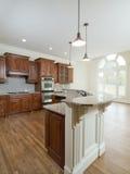 曲拱家庭内部厨房豪华模型视窗 免版税库存图片