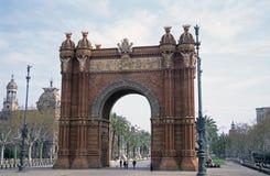曲拱巴塞罗那西班牙 免版税库存图片