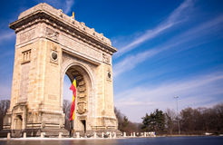 曲拱布加勒斯特罗马尼亚胜利 免版税库存图片