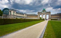 曲拱布鲁塞尔著名凯旋式 库存照片