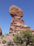 曲拱平衡了国家公园岩石美国犹他 免版税库存照片