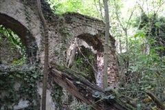 曲拱废墟 库存照片
