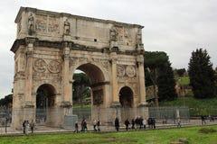 曲拱康斯坦丁意大利罗马 免版税库存照片
