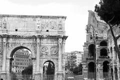 曲拱康斯坦丁罗马 库存照片