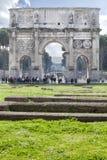 曲拱康斯坦丁(罗马-意大利-欧洲)点燃造反者 免版税库存照片