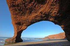 曲拱形成自然岩石 库存图片