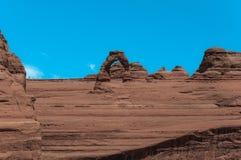 曲拱成拱形精美国家公园犹他 免版税库存图片