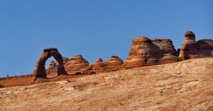 曲拱成拱形精美国家公园美国犹他 免版税库存照片
