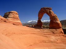 曲拱成拱形精美国家公园 免版税图库摄影