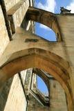 曲拱支柱大教堂温彻斯特 库存照片