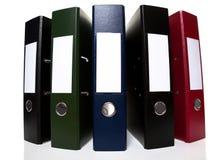 曲拱文件夹固定式杠杆的办公室 免版税库存照片