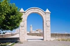 曲拱有历史背景的大教堂 免版税库存照片