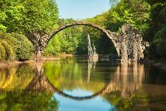 曲拱桥梁在德国 免版税库存照片