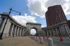 曲拱桥梁曼哈顿 库存照片