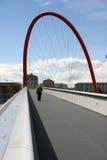 曲拱桥梁红色 库存照片