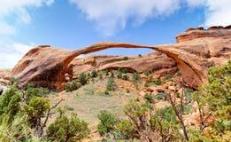 曲拱横向美国犹他 库存照片