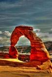 曲拱沙漠石头 库存照片