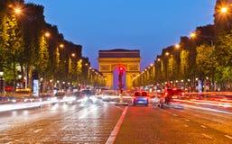 曲拱法国巴黎胜利 免版税图库摄影
