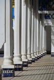 曲拱的阴影在El巴伊亚宫殿在马拉喀什 库存图片