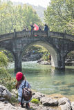 曲拱石桥梁 图库摄影