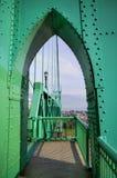 曲拱绿色 库存照片