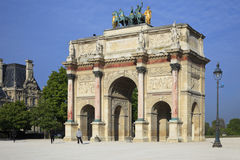 曲拱转盘巴黎胜利 图库摄影