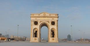 曲拱阿斯塔纳凯旋式的卡扎克斯坦 免版税图库摄影