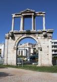 曲拱雅典希腊hadrian s 免版税库存图片