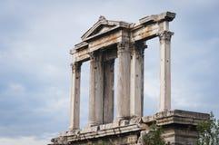 曲拱雅典hadrian的希腊 免版税库存照片