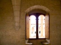 曲拱bellver城堡majorca 库存图片