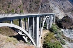 曲拱bixby桥梁小河 免版税库存照片