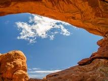 曲拱canyonlands mesa国家公园 库存照片